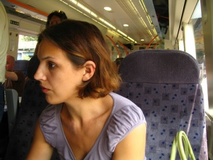 On the train to Brighton
